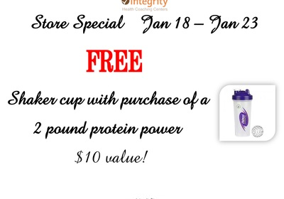 Integrity Health Coaching: Store Special - FREE Shaker Cup