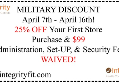 Are you or have you served in the Military? Save on a membership at Integrity Health Coaching Centers in NH
