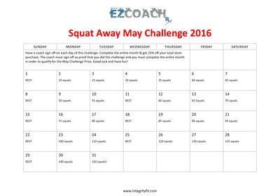 May Monthly Fitness Challenge with Integrity Health Coaching Weight Loss and Fitness Centers in NH!