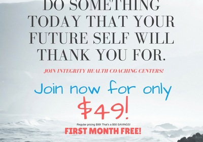 REMINDER - Membership SALE at Integrity Health Coaching Centers!