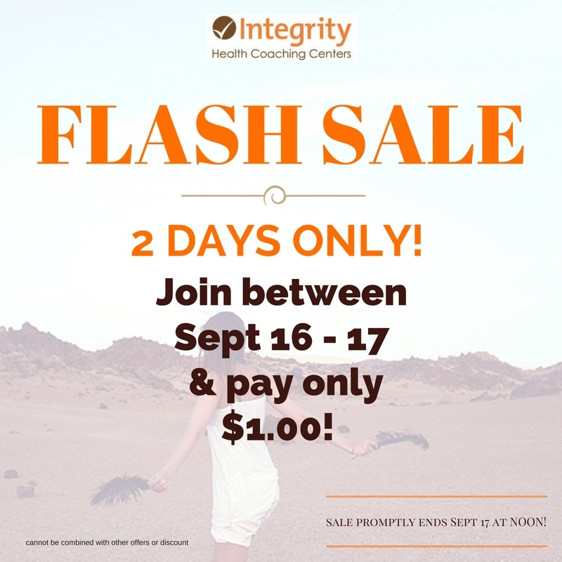 Membership FLASH Sale at Integrity Health Coaching Centers in NH