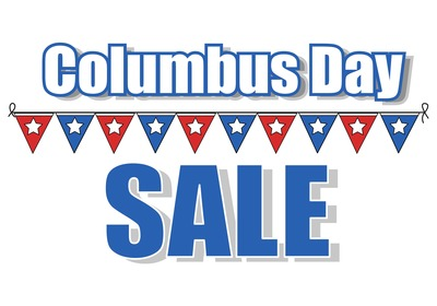 Columbus Day Sale - 1 DAY ONLY!