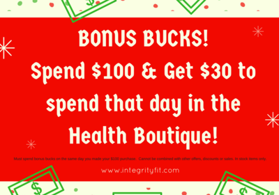Health Boutique SALE - December 5-10 at Integrity Health Coaching Centers in NH