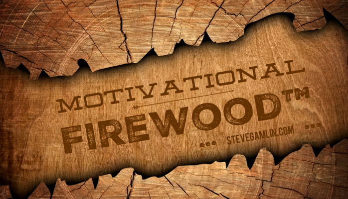 Today's piece of Motivational Firewood™