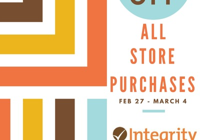 Store Special Feb 27 - March 4 at Integrity Health Coaching Centers in NH!