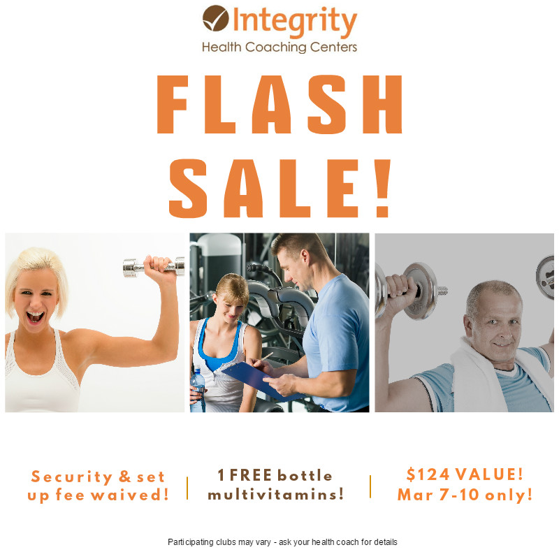 FLASH SALE! March 7 - 10 ONLY!