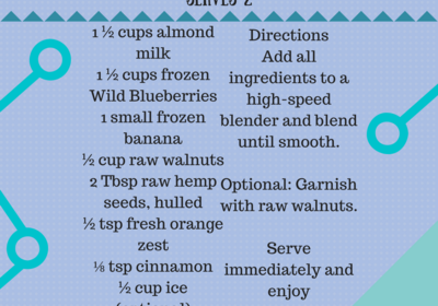 Winter Blues Blueberry Smoothie!