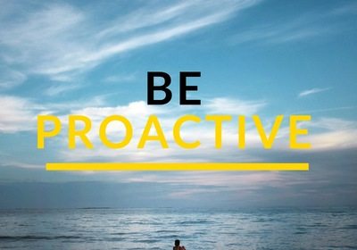 Be Proactive - Habit 1