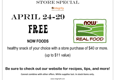 Store Special April 24 - 29 -- FREE