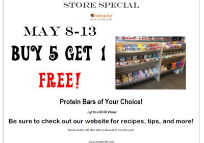 May 8-13 Store Special at Integrity Health Coaching Centers