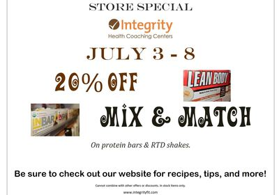 Store Special July 3 - 8