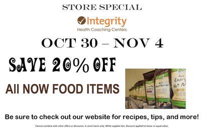 Store Special Oct 30 - Nov 4