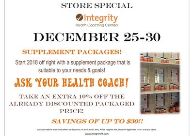 Store Sale At Integrity Health Coaching Centers