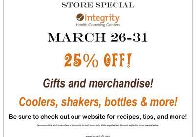 Store special march 26-31