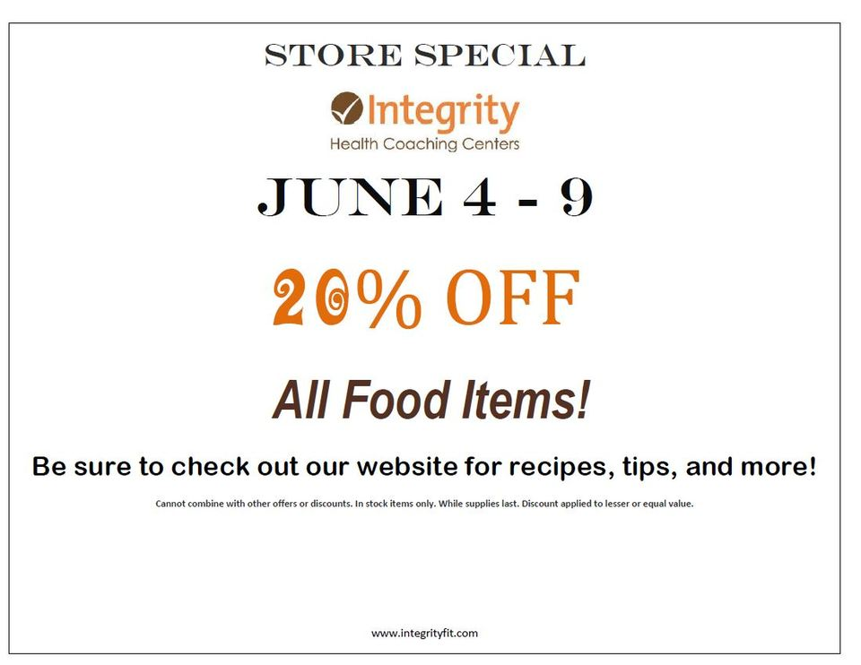 Store Special June 4 - 9