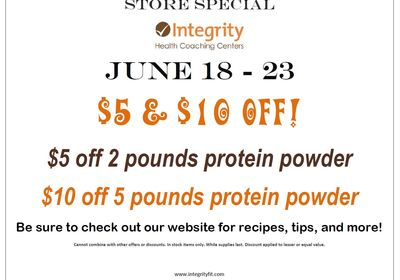 Store Special June 18 - 23