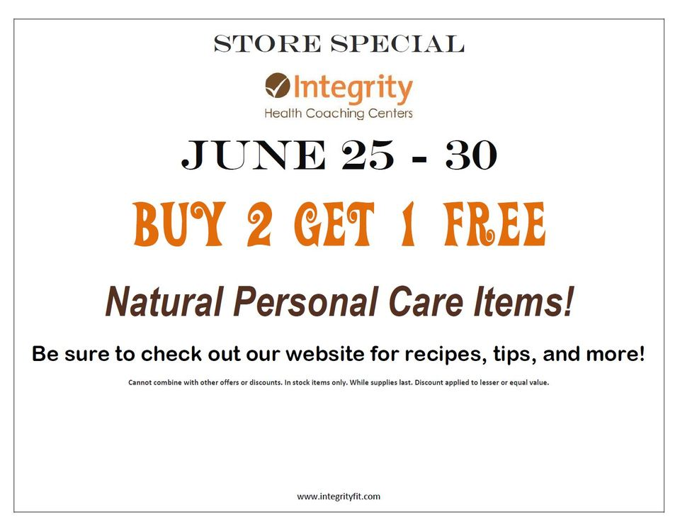 Store Special June 25-30
