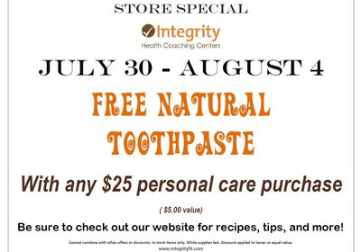 Store Special July 30 - August 4