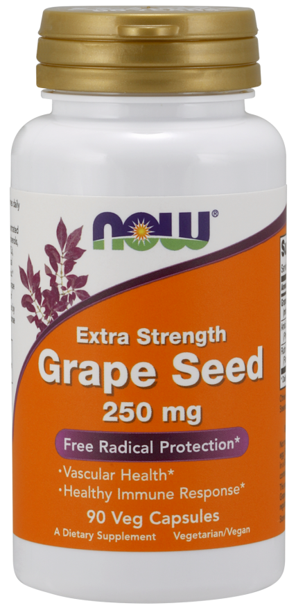 Grape Seed, Extra Strength 250 mg Veg Capsules