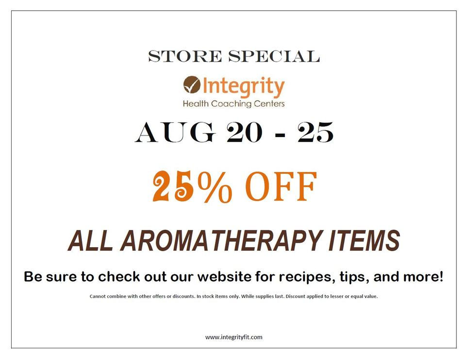 Store Special August 20-25