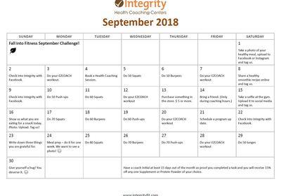 Sept 1ST The Challenge Begins!!