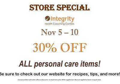 Store Special Nov 5 - 10