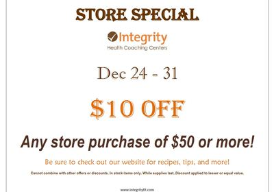 Store Special December 23 - 29