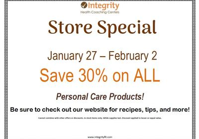 Store Special January 27 – February 2